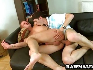 gay Uncut stud gets his tight ass pounded bareback