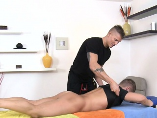 Blowjob (Gay),Gays (Gay),Massage (Gay),Muscle (Gay) Raucous massage for twink