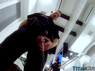 gay Hung cop fucks partner