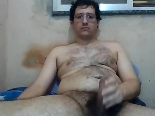 Amateur,Masturbation,Solo,hairy,glasses,gay Chubby Wanking