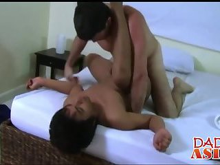 anal,interracial,anal sex,brunette,asians,interracial sex, daddies,gay Horny Daddy and cute twink Xavier having sex in a bedroom