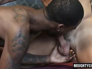 Anal,Ebony,Interracial,Threesome,facial,big dick,gay Big dick bottom anal sex with facial
