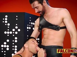 Anal,Big Cock,Blowjob,gay,sucking,leather Monster cock drilling tight butt