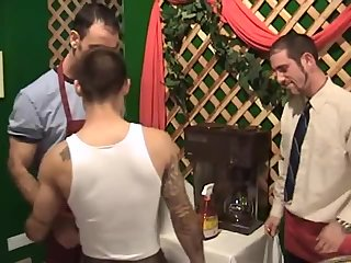 Anal,Threesome,gay,group sex those hairy Brothers Craving To suck On Member