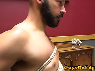 Anal,Domination,Fetish,Blowjob,gay Edging fetish stud bound and dominated