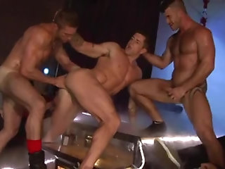 Anal,Cumshot,ass,group sex,fuck,muscled,gay Stripshow Porn DP group-sex On Stage
