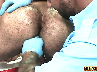 bear,muscle, flip flop,gay Muscle bear flip flop with anal cumshot