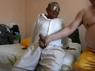 Amateur,Ebony,Handjob,Mature,gay Indian grandpa and his chubby friend