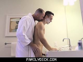 Anal,Cumshot,Masturbation,Bareback,gay FamilyDick - Shy Son Get Taught By Daddy to Shave
