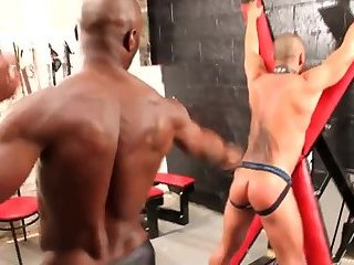 Anal,Ebony,Fetish,Hunks,Interracial,gay,hardcore,bdsm,muscle,bald A black fella Dominates His Boyfriend
