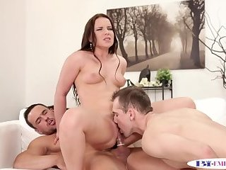 Anal,Fetish,Threesome,gay European stud licks pussy and sucks cock
