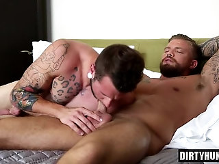 Anal,Tattoo,gay,muscle Muscle gay anal sex and cumshot