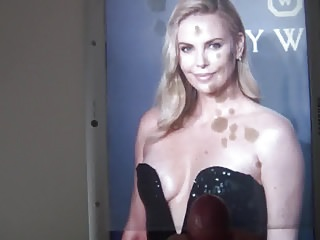 Cum Tributes (Gay);HD Gays Charlize Theron Cum Tribute