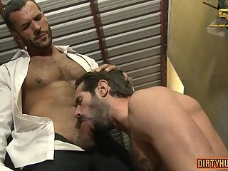 Rimming,Blowjob,gay,muscle,beard,hiry ass Muscle gay piss with facial