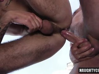 Anal,Hunks,Outdoors,Rimming,Bareback,gay,hairy Hairy gay anal sex with cumshot