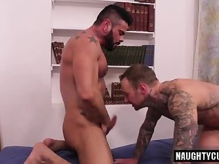 Anal,Hunks,Tattoo,gay,ass,hardcore,fuck,muscled Latin gay flip flop with cumshot