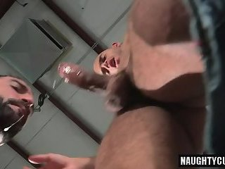 Anal,Rimming,gay,fuck,hairy,muscled,bald Hairy gay anal sex and cumshot