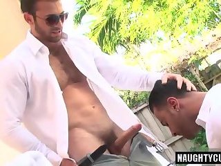 Anal,Hunks,Outdoors,Rimming,gay,oral,big dick Big dick gay oral sex and cumshot