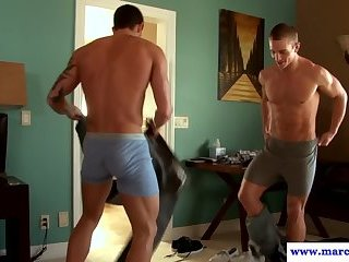 Anal,Body Builders,Threesome,fuck,studs,muscled,gay,Marcus Mojo Jock trio cock sucking and rimming