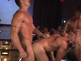 Anal,Cumshot,gay,ass,group sex,fuck,muscled Stripshow Porn DP bang On Stage