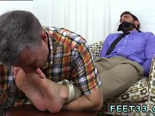 gay Guy gets his feet tied & licked