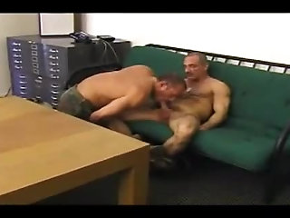 Anal,Cumshot,Mature,muscled,gay mature Soldiers poke