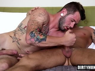 Anal,Hunks,Tattoo,gay,muscle Muscle gay anal sex with cumshot
