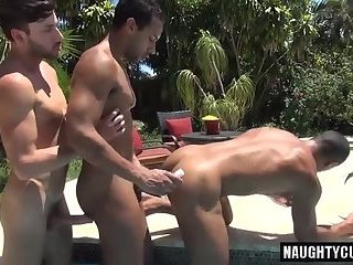 Anal,Outdoors,Threesome,gay,british Huge dick gay anal sex with cumshot