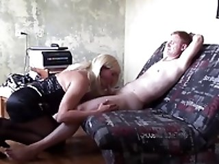 Crossdressers (Gay);HD Gays Blond CD gets fucked