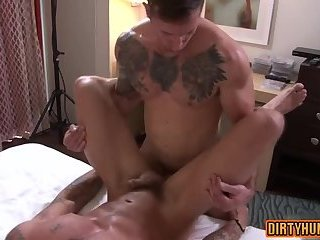 Anal,Tattoo,gay,studs,muscle Muscle gay anal sex with cumshot