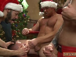 Anal,Party,gay,group sex,fuck,muscle,doggystyle,xmas Muscle gay bound with cumshot