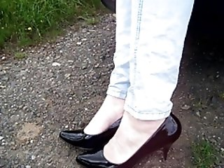 Men (Gay);Part 2;Nude Heels;Nude Heels - nude feet outdoor - PART 2