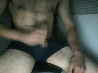 Amateur,Masturbation,Solo,hairy,gay sexy guy caught jerking off and cum on cam