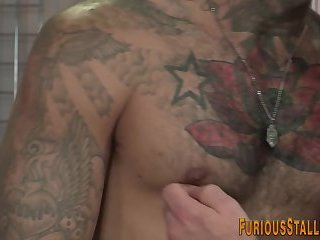 Cumshot,Big Cock,Body Builders,Tattoo,Blowjob,muscled,gay Buff bear mouth spermed