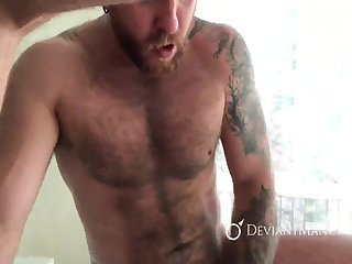 Anal,Bears,Tattoo,Threesome,group sex,fuck,muscle,gay Ginger Bear's raw Threeway