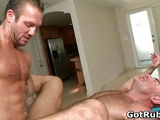 anal,tattoo,massage,gays,gay sex,anal sex,condom sex,muscled,gay Muscled hunk with tattoos fucking his massage guy