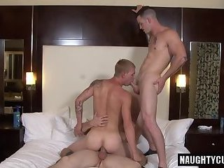 Anal,Threesome,gay,ass,group sex,studs,brutal Hot gay threesome with cumshot