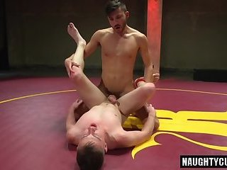 Anal,Domination,gay,big dick,wrestling,muscled Big dick gay domination and cum eating
