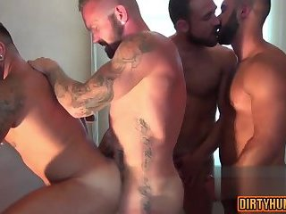 Anal,Cumshot,bear,big dick,muscle,gay Muscle bear oral sex with cumshot