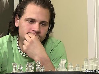 bisexual,tattoo,blowjob,oral,hunk,blowjobs,cute, tattoos,gay Chess playing leads to gay cock riding