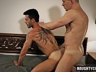Anal,Domination,gay,ass,hardcore,fuck,foursome Tattoo gay anal sex with cumshot