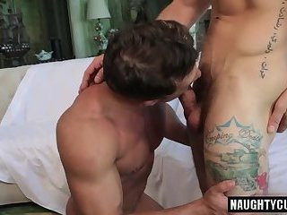 Anal,Fetish,Hunks,Tattoo,gay,muscled Russian gay flip flop and cumshot
