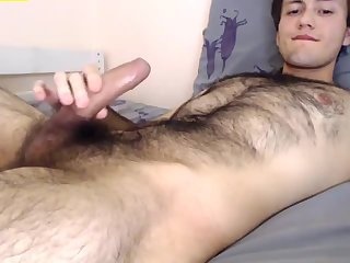 Amateur,Masturbation,Solo,uncut,hairy,gay Hot young hairy boy with a big uncut cock and tight ass