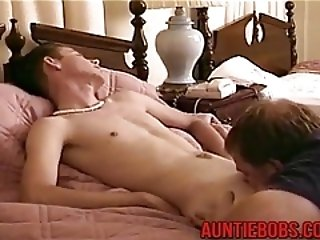 Amateur (Gay);Blowjobs (Gay);Gay Porn (Gay);Auntie Bobs;Hungry;Sucking Cum;Sucking Cum hungry Auntie Bob sucking naked Joey