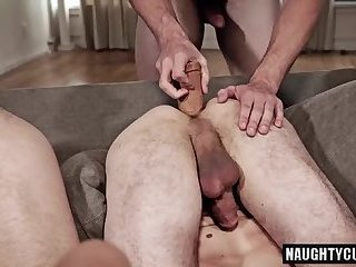 Anal,Hunks,Threesome,gay,facial,group sex,fuck,big dick,studs Big dick gay flip flop and facial