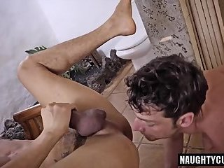 Anal,Threesome,gay,facial,group sex,fuck,big dick,muscled Big dick gay flip flop and facial