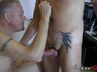Anal,Cumshot,Blowjob,gay,bear,big dick, tattoos,victorxxx Wild butt buddies fuck each other like wild beasts they are