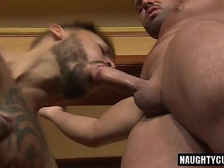 Anal,Hunks,gay,bear,hardcore,latin,black,muscled Latin bear oral sex with cumshot