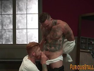 Anal,Cumshot,Big Cock,Body Builders,Hunks,Tattoo,ginger,gay Hairy ginger buff bear