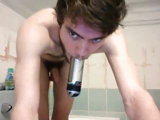 Amateur (Gay);Gaping (Gay);Masturbation (Gay);Twinks (Gay);Webcams (Gay) Dildo Play in the Bathtub